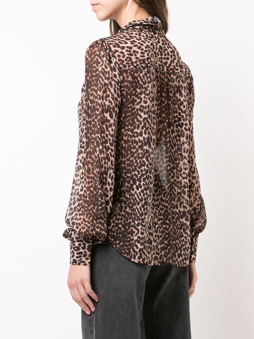 ec5517a2ffaa30 Paige Denim - Cleobella Brown & Tan Silk Leopard Printed Blouse ...