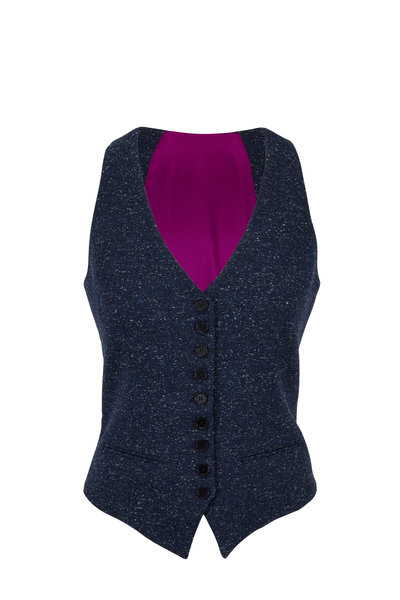 Norisol Ferrari - Kent X Indigo Tweed Vest