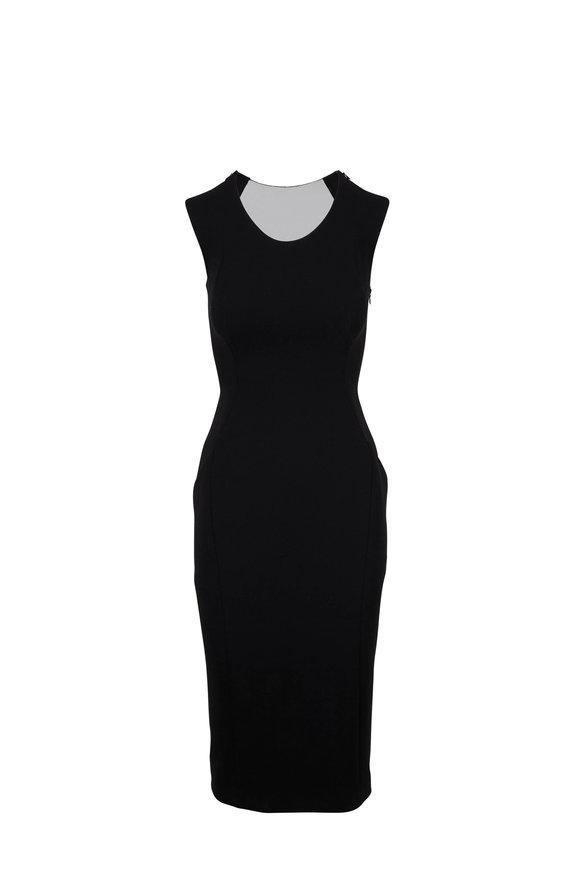 Norisol Ferrari Madonna Black Illusion Plunge Back Dress