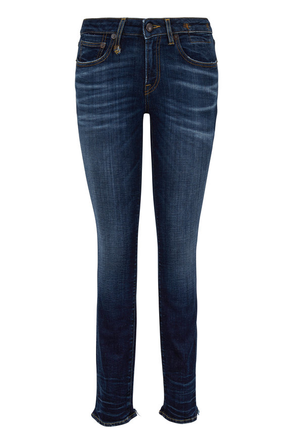 R13 Alison Medium Wash Cut Out Back Hem Skinny Jean