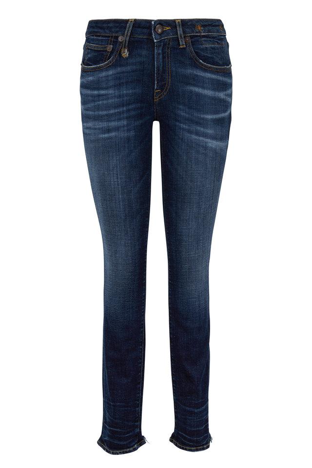 Alison Medium Wash Cut Out Back Hem Skinny Jean