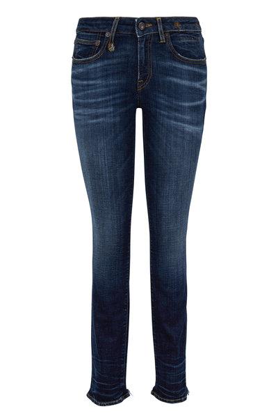 R13 - Alison Medium Wash Cut Out Back Hem Skinny Jean