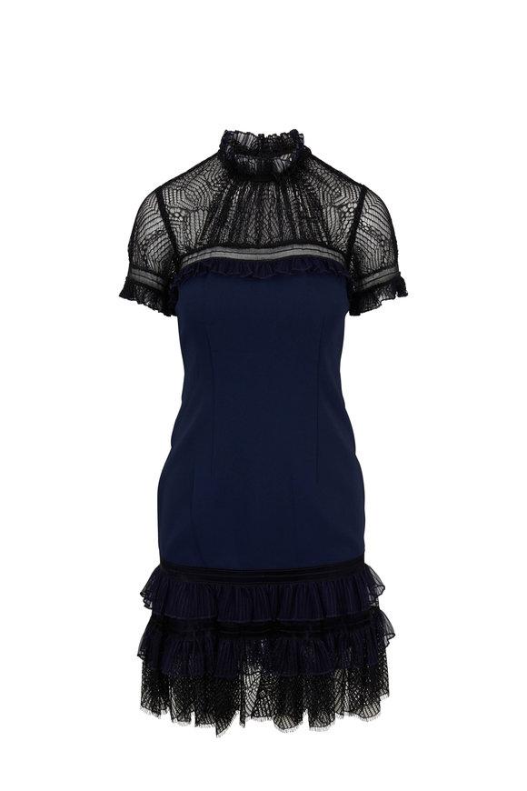 Jonathan Simkhai Midnight & Black Tulle Dress