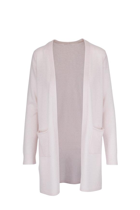 A T M Lunar Ivory Cashmere Long Cardigan