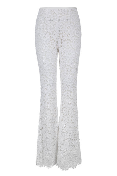 Michael Kors Collection - Optic White Lace & Sequin Pant
