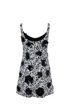Michael Kors Collection - White & Black 3D Floral Sleeveless Shift Dress
