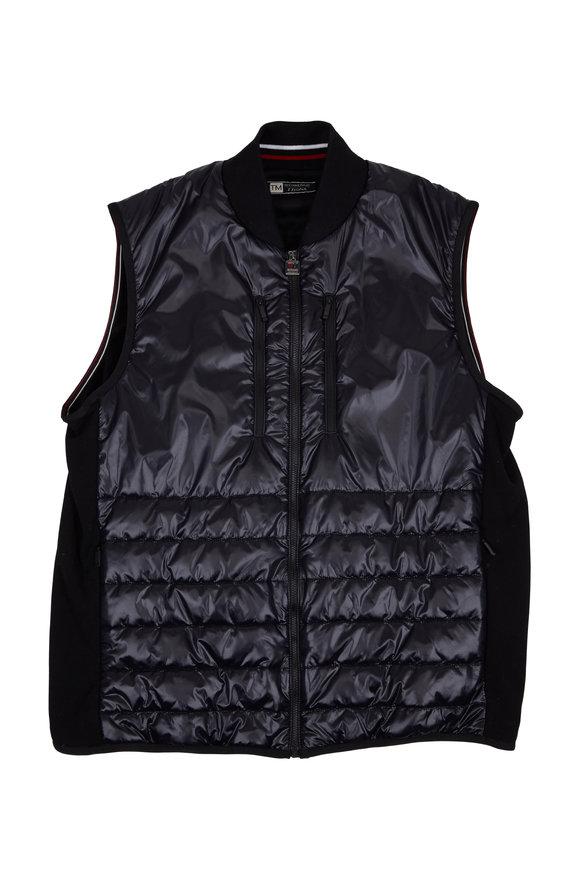 Z Zegna Black & Navy Techmerino Wool Vest