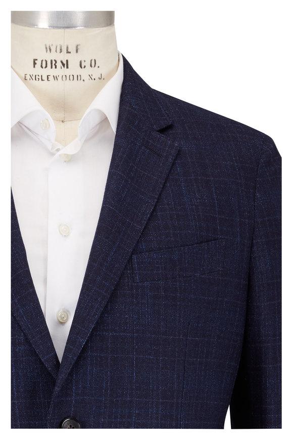 Ermenegildo Zegna Navy Blue Wool & Cashmere Sportcoat