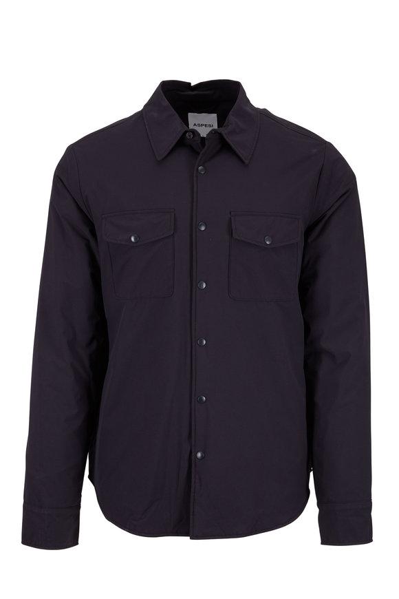 Aspesi Black Nylon Overshirt