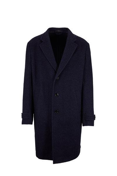 Ermenegildo Zegna - Blue Wool, Silk & Cashmere Topcoat