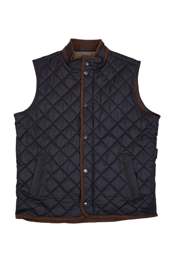 Essex Black Quilted Vest