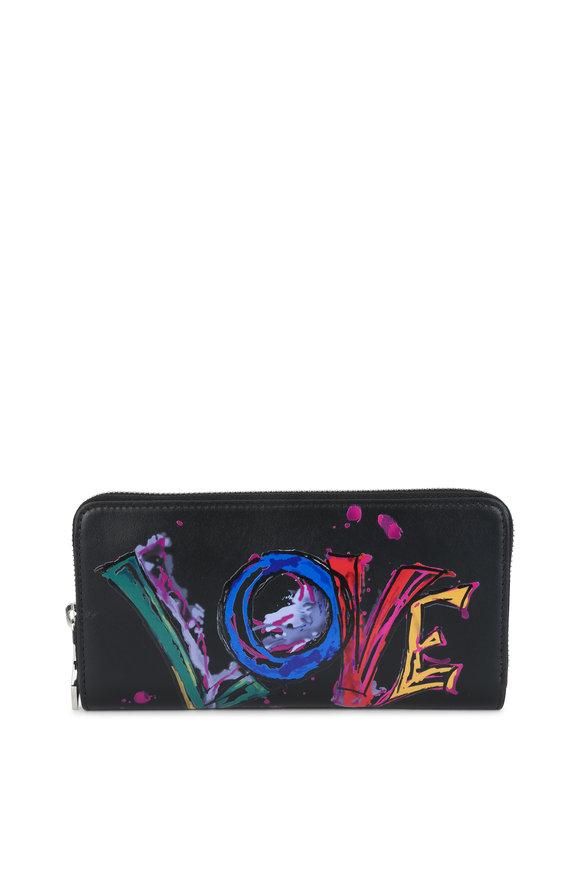Christian Louboutin Black Panettone Paris Love Wallet