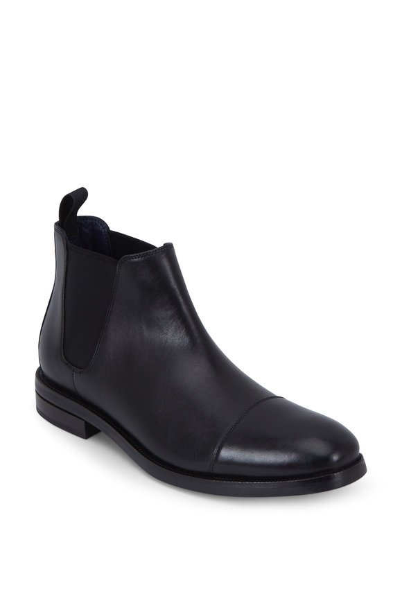 Cole Haan Wagner Grand.ØS Black Leather Waterproof Boot