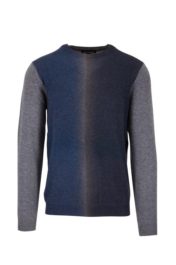 Autumn Cashmere Navy & Gray Ombré Cashmere Sweater