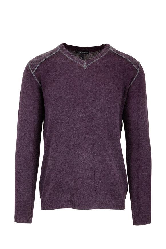 Autumn Cashmere Burgundy Inked Cashmere V-Neck Sweater