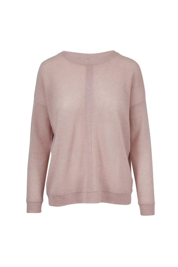 Raffi  Nude Cashmere Mixed Stitch Sweater
