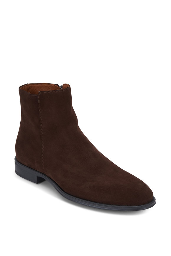 Aquatalia Daniel Brown Suede Weatherproof Boot