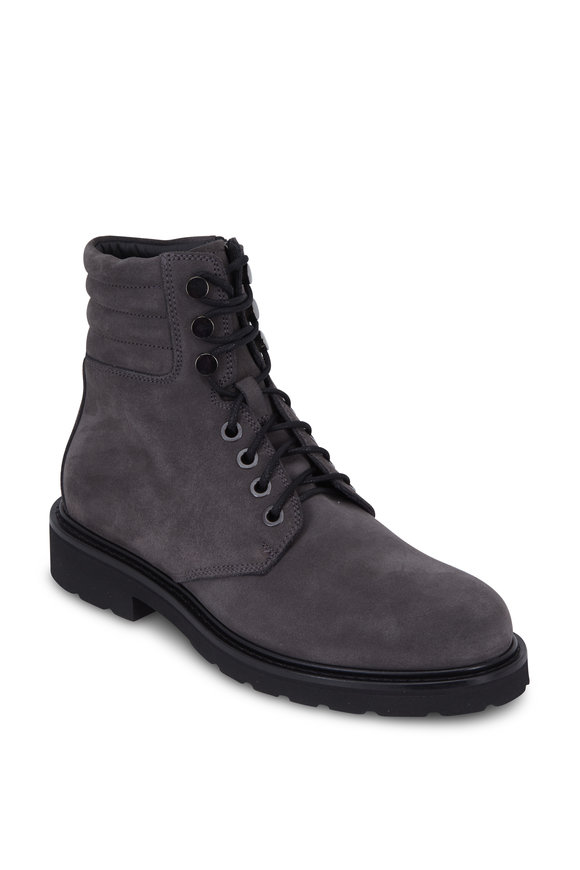 Aquatalia Heath Dark Charcoal Weatherproof Suede Boot