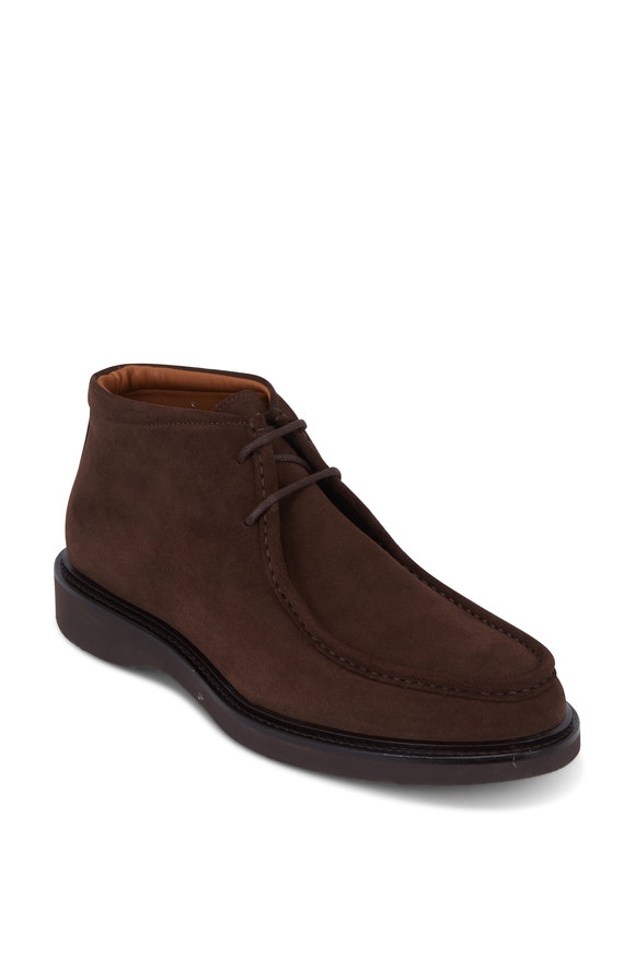 Aquatalia Kyle Brown Weatherproof Suede Boot