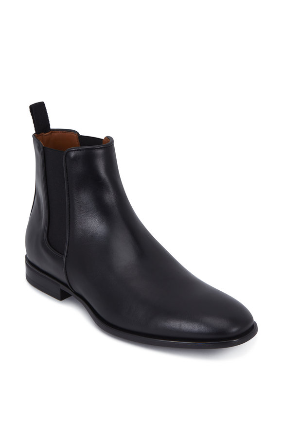 Aquatalia Adrian Black Leather Weatherproof Chelsea Boot