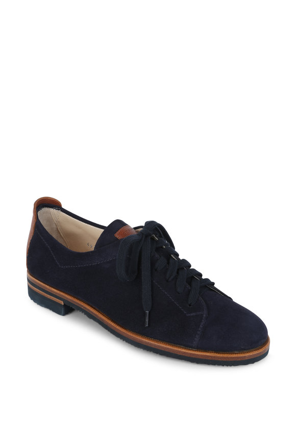 Gravati Navy Blue Suede Oxford Sneaker