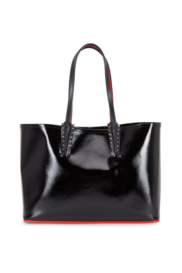 Christian Louboutin Cabata Black Patent Leather Small Tote