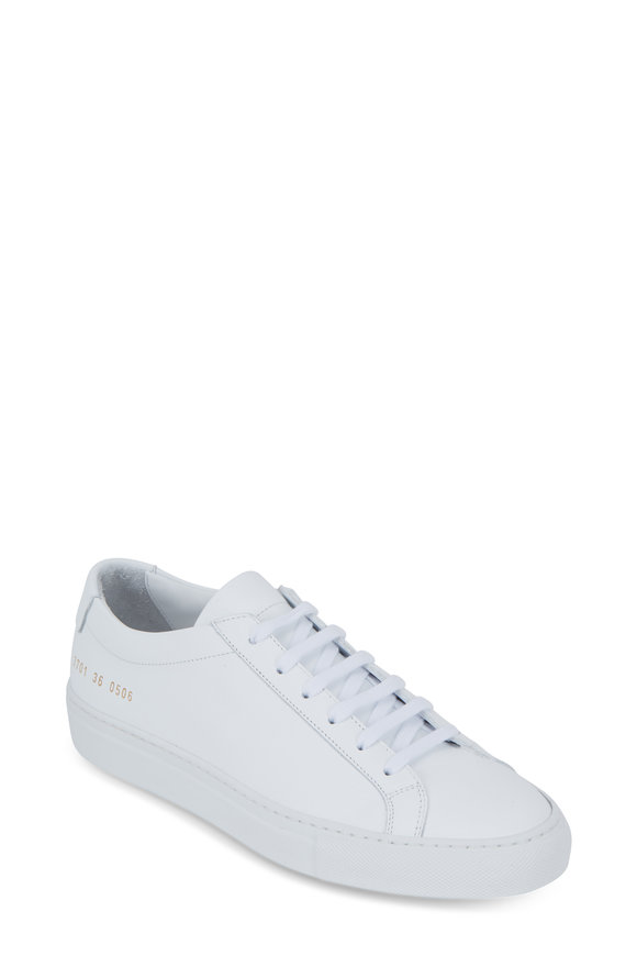 Common Projects Original Achilles White Leather Low Top Sneaker