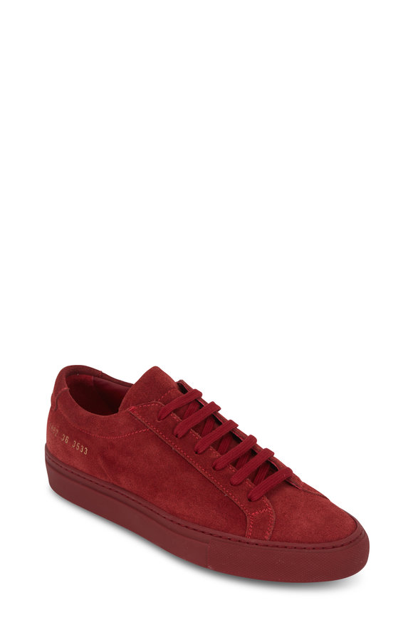 WOMAN by COMMON PROJECTS Women's Original Achilles Red Low Top Sneaker