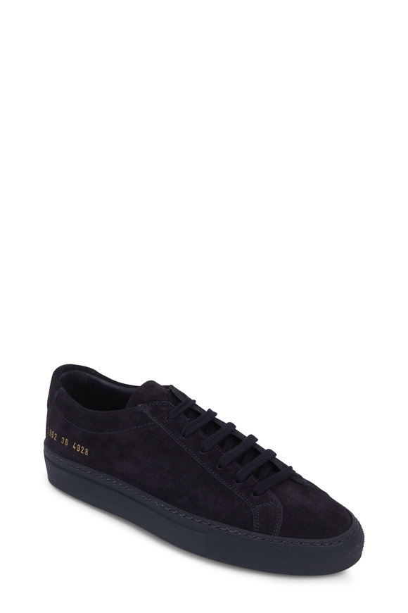 WOMAN by COMMON PROJECTS Women's Original Achilles Navy Low Top Sneaker