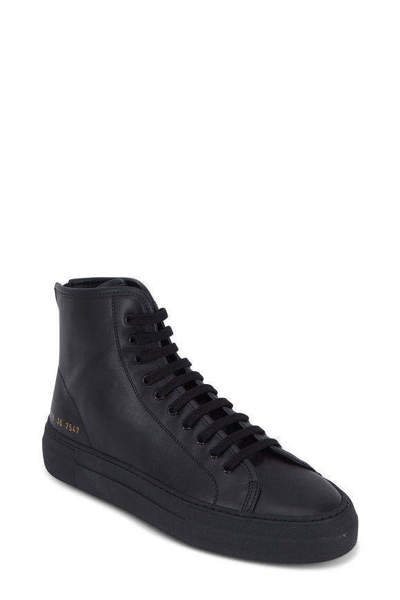 WOMAN by COMMON PROJECTS Women's Tournament High Super Black Hi-Top Sneaker