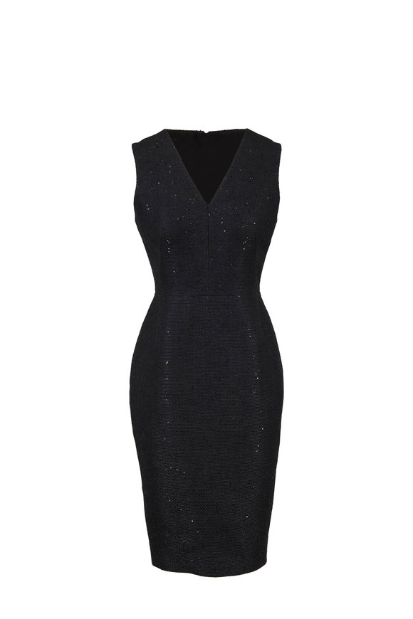 Lela Rose Exclusively Ours! Black All-Over Sequin Dress