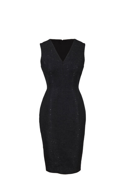 Lela Rose - Exclusively Ours! Black All-Over Sequin Dress
