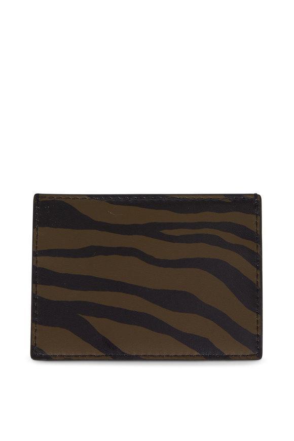 Bottega Veneta Camo Green Intrecciato & Zebra Cardcase