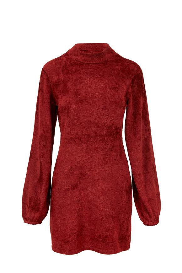 Elizabeth & James Nia Garnet Velour Knit Dress
