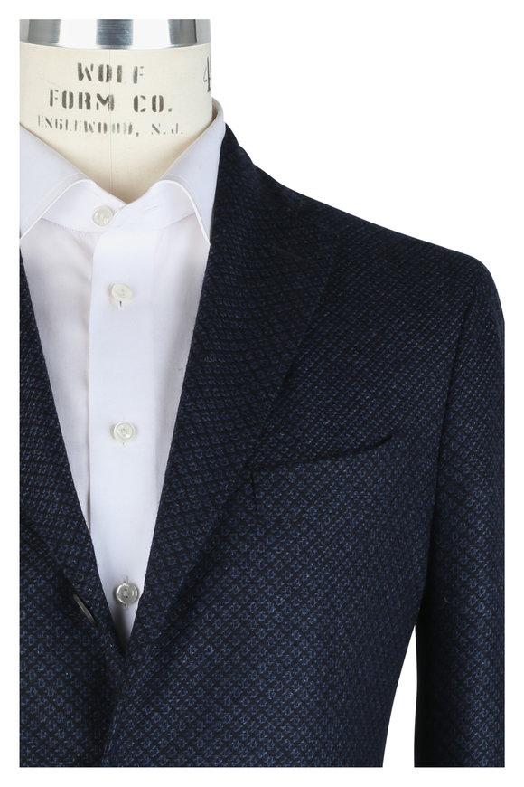 Boglioli Navy Blue Cashmere Birdseye Sportcoat