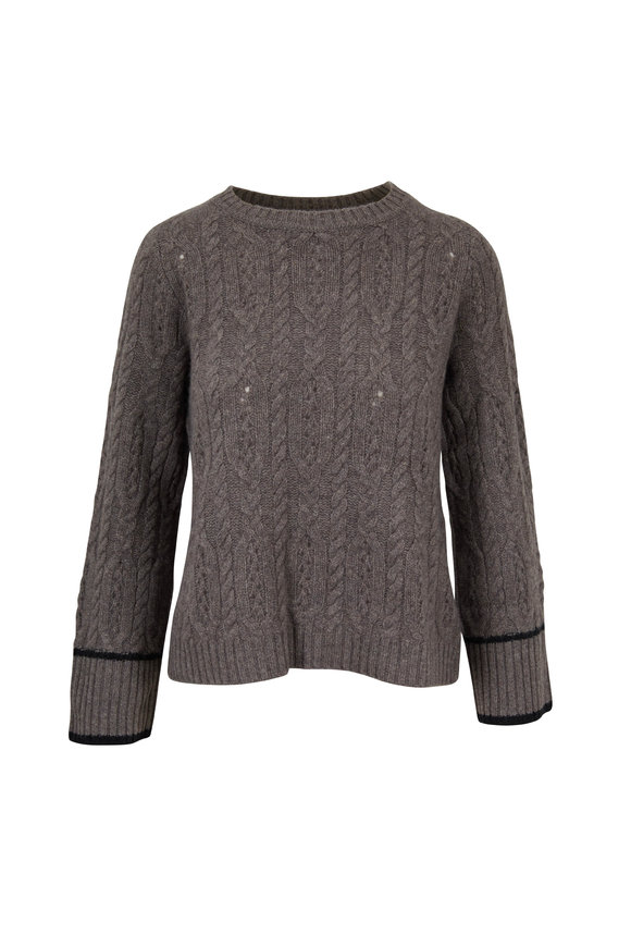 Raffi  Pepper Cashmere Cable Knit Sweater