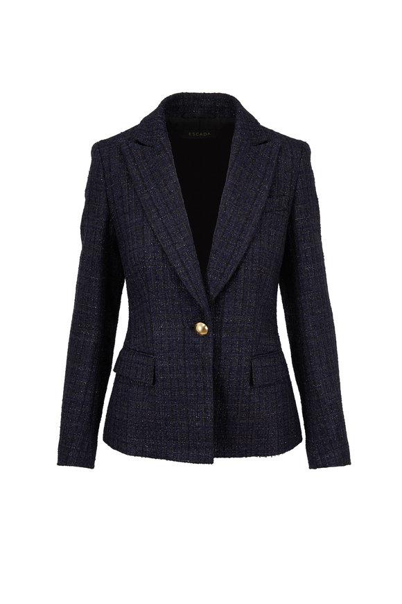Escada Brikeen Black Tweed Lurex Jacket