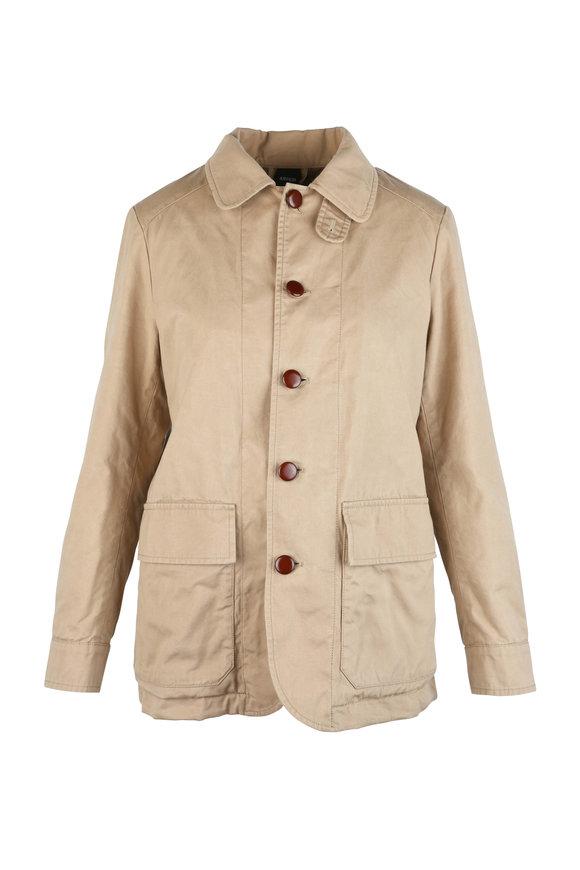Aspesi Khaki Cotton Insulated Jacket