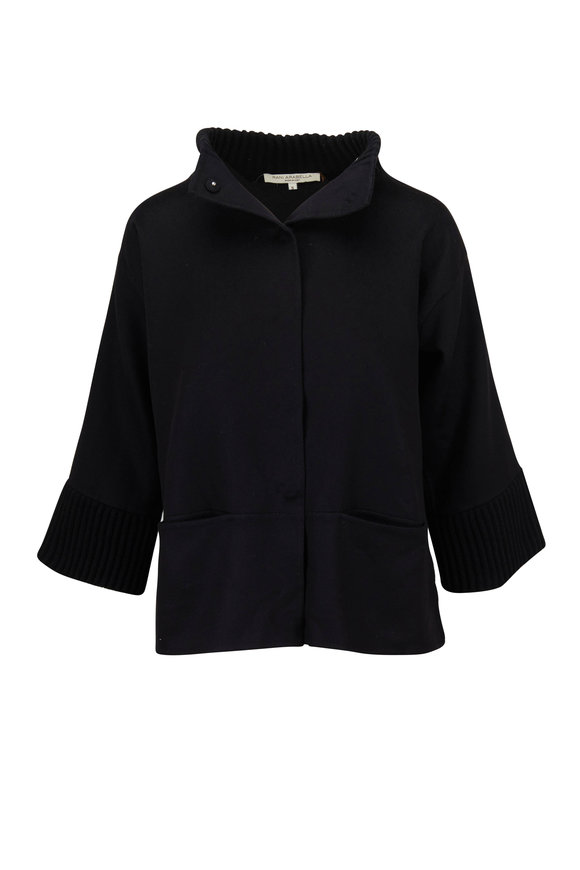 Rani Arabella Black Double-Faced Cashmere Jacket