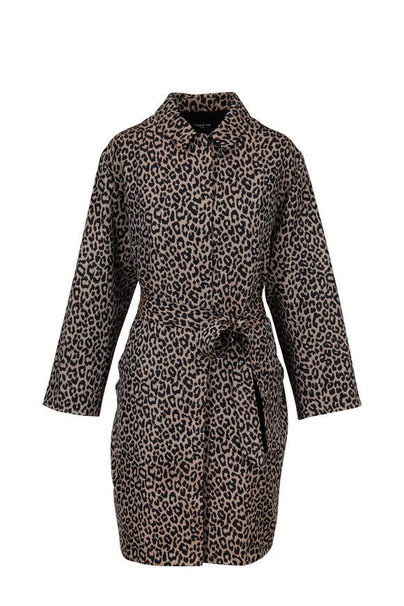 Paule Ka Leopard Jacquard Trench Coat