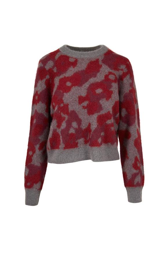 Rag & Bone Burgundy Leopard Crewneck Sweater