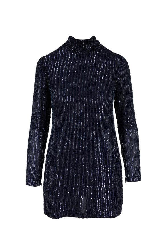Rachel Gilbert Navy All Over Sequin Mini Dress
