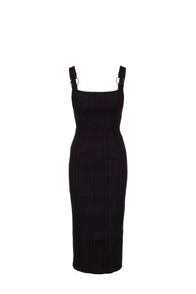 Rachel Gilbert - Abiba Black Fitted Midi Dress