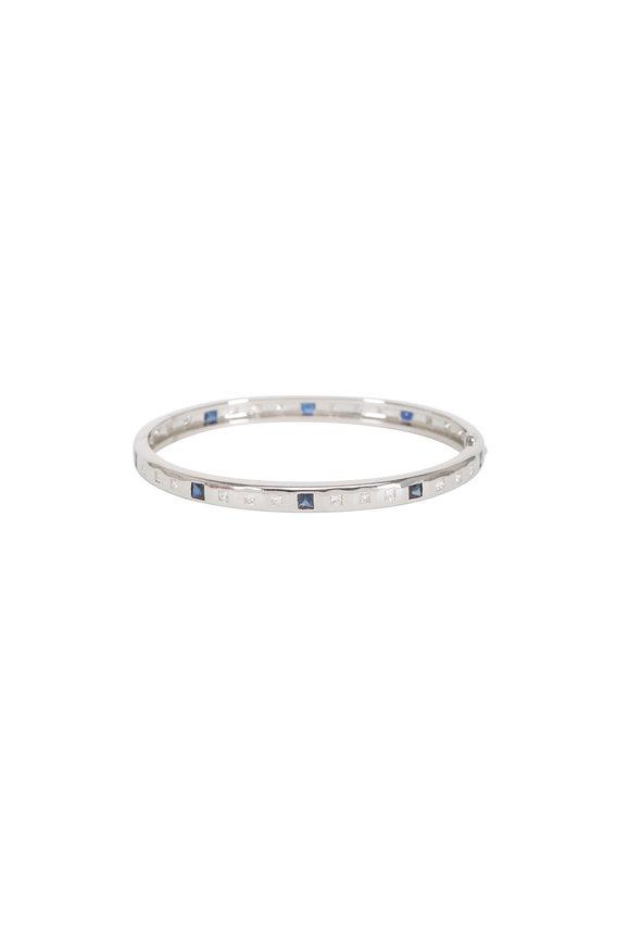 Lowy & Co Platinum Diamond & Sapphire Bracelet