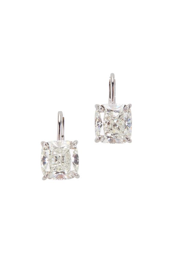 Lowy & Co Cushion Cut Diamond Earrings