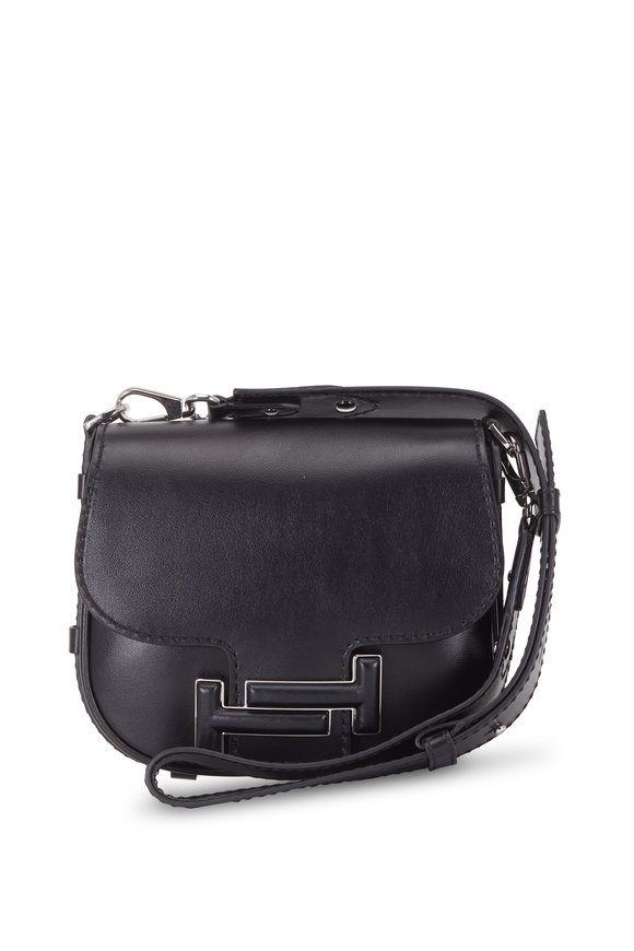 Tod's Double T Black Leather Crossbody Bag