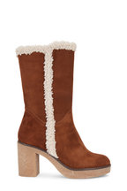 Italeau - Valeria Natural Waterproof Suede Mid Boot, 75mm