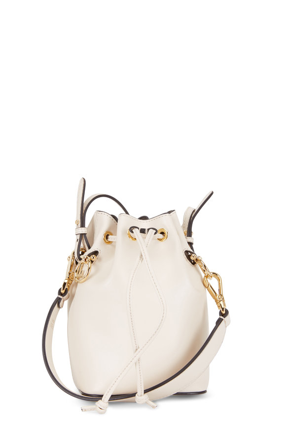 Fendi Mon Tresor Camel Leather Mini Bucket Bag