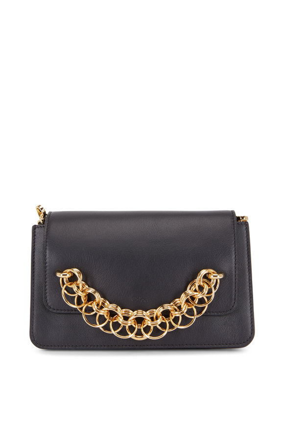 Chloé Drew Bijou Black Leather Small Clutch