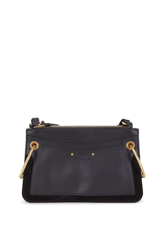 Chloé Roy Black Leather & Suede Small Crossbody